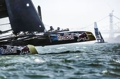 Sailors of Youth Team Austria perform during the Red Bull Youth America's Cup Selection Series in San Francisco