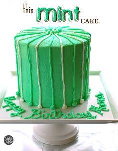 Birthday cake, Thin Mint Cake