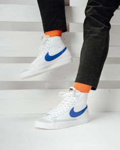Sneakers Mode, Summer Sneakers, Retro Sneakers, Sneakers Fashion, Nike Sneakers, Skater Outfits, Tomboy Outfits, Nike Blazers Outfit, Nike Outfits