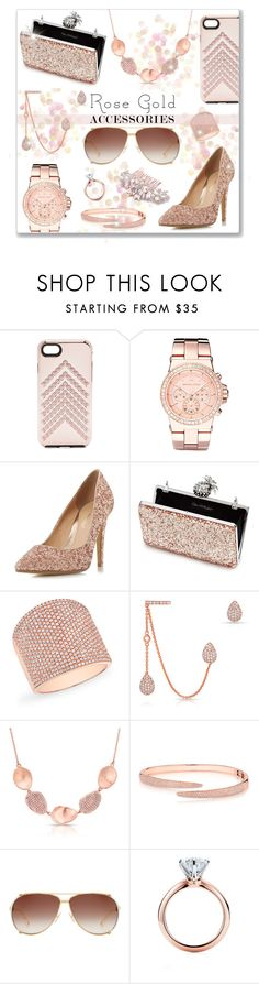 """""""Rose Gold"""" by leanne-mcclean ❤ liked on Polyvore featuring Rebecca Minkoff, Michael Kors, Head Over Heels by Dune, Miss Selfridge, Anne Sisteron, Christian Dior and Tiffany & Co."""