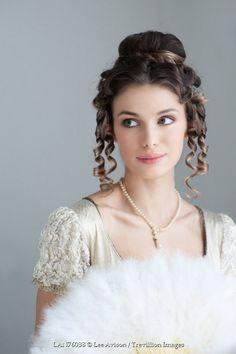 Lee Avison pretty regency woman with ringlets and fan Women