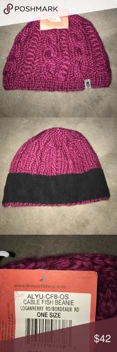 North face Beanie NWT BEAUTIFUL CRANBERRY COLOR North face Beanie NWT NEVER WORN BEAUTIFUL CRANBERRY COLOR North Face Accessories Hats