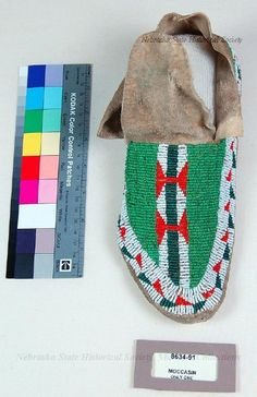 Moccasin, Buffalo Track, Non-Sioux, Sioux Style; Only One 19cent.