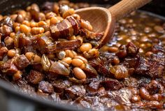 Proper Boston baked beans would have salt pork instead of the bacon James Beard cooked them with ribs The key is to use the little white pea beans known as navy beans, and to allow time to do most of the work