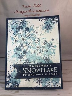 Beautiful Blizzard Bundle By Stampin Up CRAFTS CARDS