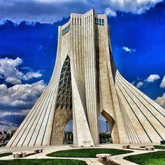 Tehran, Tehran, Iran - Azadi tower in Tehran, Iran...