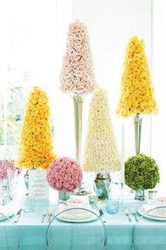 blossom topiaries. #tablescape #diy #decor
