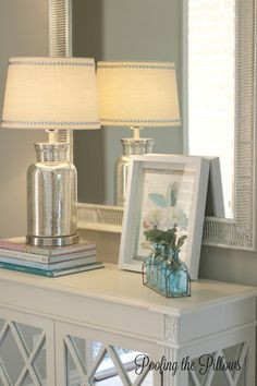 Poofing the Pillows: Summer Entryway