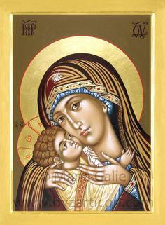 Marie Galie italian icon of the Theotokos Religious Images, Religious Icons, Religious Art, Spiritual Paintings, Religion, Our Father In Heaven, Mama Mary, Mary And Jesus, Byzantine Icons