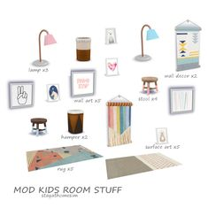 """crown-queen-bambee: """" stayathomesim: """" Mod Kids Room Stuff I always need more kids room decor in my style! 😆 These objects coordinate well with the Tiny Living stuff! Mods Sims, Sims 4 Mods Clothes, Sims 4 Clothing, Sims Four, Sims 4 Mm, San Myshuno, Sims 4 Bedroom, Master Bedroom, Muebles Sims 4 Cc"""