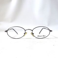 aeb76c57fb5 vintage 1990 s roberto elliot eyeglasses metal frames prescription lenses  womens mens retro eye glasses round NOS
