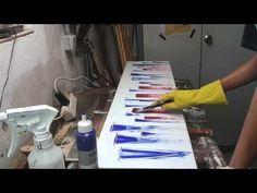 Abstrakte Acrylmalerei Lineare Figuren - YouTube