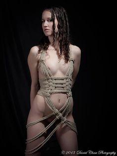 Model bondage rope in female
