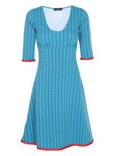 Stella dress-Retro blå