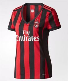 2017 Cheap Women Jersey AC Milan Home Replica Football Shirt [AFC263]
