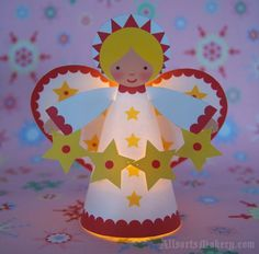 Christmas DIY Decorations - Starry Christmas Angels ~ a sweet paper printable to… Christmas Angel Crafts, Christmas Angels, Winter Christmas, Holiday Crafts, Christmas Holidays, Christmas Decorations, Christmas Ornaments, Holiday Decor, Christmas Activities