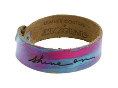 Leather Couture by Jessica Galindo Artist's Script Petite Cuff at Zappos.com