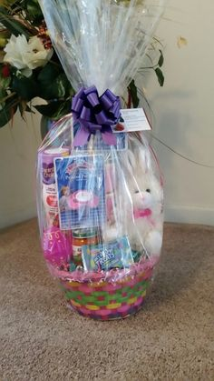 Infant Baby Girl Easter Basket