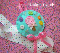 Candy Shoppe Hair Bow Holder in Felt  by ribboncandyhairbows, $17.00