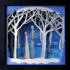 'winter wood wraiths' diorama. Artist?