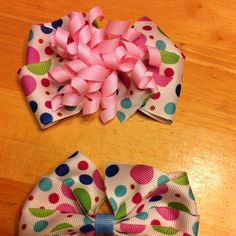 Hair bows for the girls