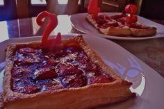Tarta de fresas, ¡qué buena combinación! #dulceosalado