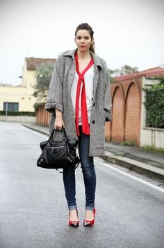 outfit fashion streetstyle cappotto a lisca di pesce vintage www.ireneccloset.com