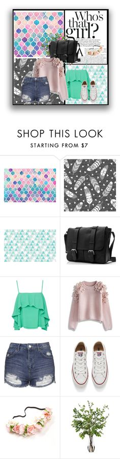 """""""Who's That Girl?"""" by nzel12 ❤ liked on Polyvore featuring Apiece Apart, Chicwish, Topshop, Converse and Diane James"""