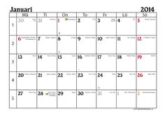 Calendars 2014, free to print (in Swedish)