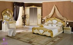 French style bedrooms furniture baroque leaf gilding 2014
