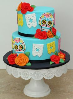 butter hearts sugar: Dia de los Muertos Wedding Cake