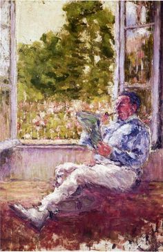 marcel duchamp(1887-1968), man seated by a window, 1907. oil on canvas, 55.6 x 38.7 cm. museum of modern art, new york, usa