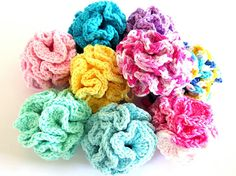 Crochet Facial Poufs Cotton Baby Bath Loofah Pick 3 of Your