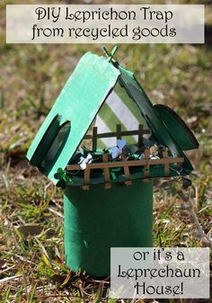 DIY Leprechaun Trap and Leprechaun house made from things around the house - full tutorial