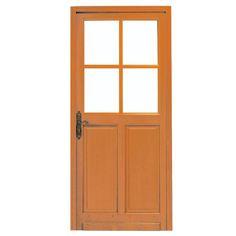 Porte d 39 entr e bois classique grand vitrage portes pinterest entr e - Porte phonique lapeyre ...