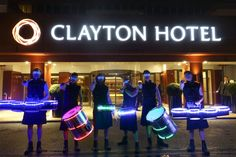 Our LED drummers providing meet and greet entertainment at the Irish Tourism Industry Awards 2017 Dublin, Ireland