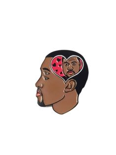 "-Kanye loves Kanye lapel pin -1.5"" soft enamel -Pin art designed by:Burrito Breath-limited edition pin back designed by Burrito Breath-Ships world wide"
