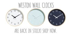 Our most popular selling Weston Wall Clocks are now back in stock! Available in store and online now! #Weston #milkandsugar #clock #home #homedecor #homedecoration #modern #monochrome #wooden #shoplocal #interiors #interiordesign #design #designer #interior #finderskeepersgifts