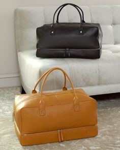 H66VP Bodhi Square Leather Duffle