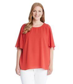 Karen Kane Plus Size Cape Sleeve Top