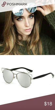 Silver Mirror Cateye Sunglasses Fashionable Sunglasses style polarized Sunglasses   HIGH quality materials,  silver  metal frame.  Lens Protection  All of the Sunglasses we offer will protect your eyes from harmful UV Rays. All of our Sunglasses feature UV400 Lens Technology, absorbing over 99% of harmful UVA and UVB rays. Accessories Sunglasses
