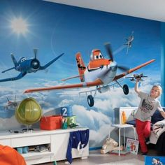 Disney Planes Dusty in the Clouds Wallpaper