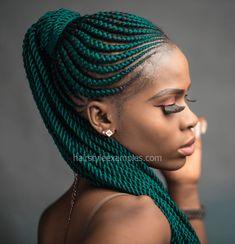 Top 60 All the Rage Looks with Long Box Braids - Hairstyles Trends Natural Braided Hairstyles, Natural Hair Braids, Braided Ponytail Hairstyles, Frontal Hairstyles, African Braids Hairstyles, Braids For Black Hair, Wig Hairstyles, Natural Hair Styles, Short Hair Styles