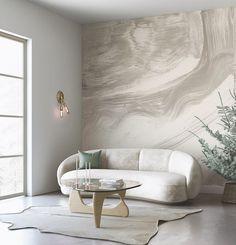 Apartment Interior Design, Living Room Interior, Home Living Room, Luxury Interior, Modern Interior Design, Interior Architecture, Dining Room Wallpaper, Dining Room Design, Contemporary Furniture