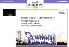 Sociale medier + storyteling = awesonesause ifølge Meketo & Cameron Uganec, director of Marketing & Communications at HootSuite. Webinar med gode råd og how to.