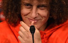 Paris Saint-Germain's Brazilian defender David Luiz gives a press conference at the Parc des Princes stadium in Paris on February 16, 2015, on the eve of the UEFA Champions League football match PSG vs Chelsea. #psg #ucl #championsleague #chelseafc