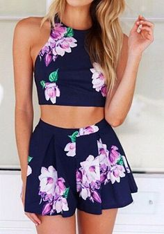 Darling 2 Piece Floral Print Set