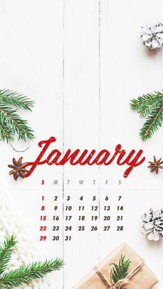 Wallpaper iPhone/calendar January 17/winter ⚪
