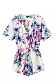 """""""In the air"""" Multicolor Floral Onepiece Romper Playsuit"""