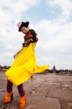 Eccentric Asian-Inspired Ensembles - The Garuda Indonesia Inflight Magazine Editorial is Vibrant (GALLERY)